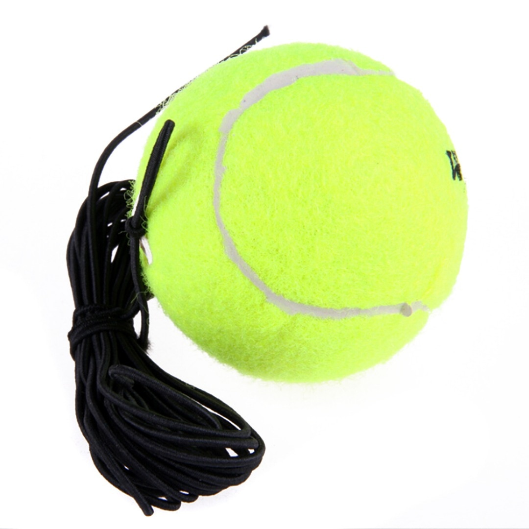 Pelota de tenis de entrenamiento de lana de goma con elasticidad de reemplazo de cuerda para un solo paquete de pelota de entrenamiento de práctica