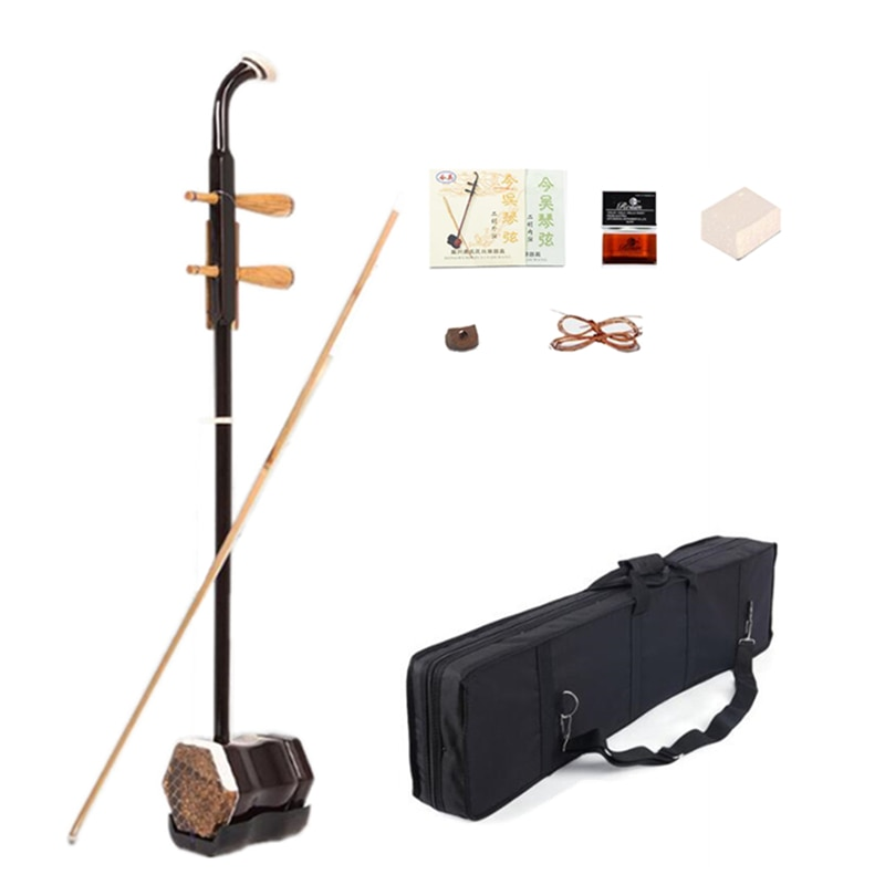 Di vendita caldo Erhu 01A1 Cinese due Corde di Violino Violino Strumenti Urheen e Accessori con Colofonia corde di ricambio Libro Arco e Caso