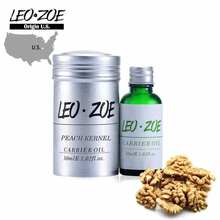 Marque bien connue LEOZOE huile de noyau de pêche Pure certificat dorigine huile essentielle de noyau de pêche de haute qualité aux états-unis 30ML