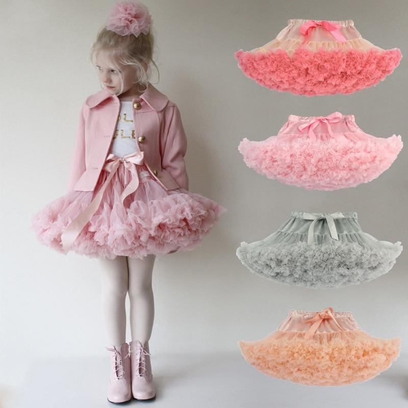 Drop shipping Baby Girls Tutu Skirt Fluffy Children Ballet Kids Pettiskirt Baby Girl Skirts Princess