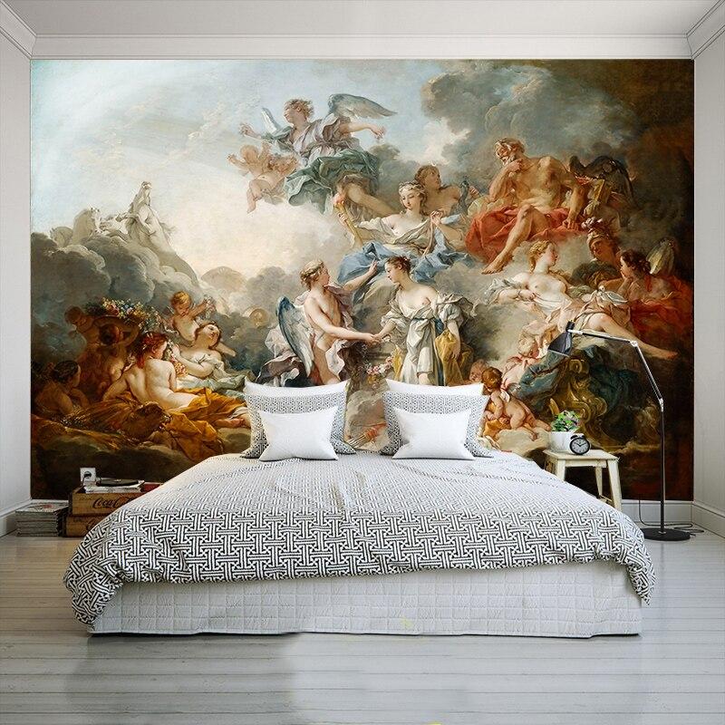 3D Nach Wandbild Tapete Europäischen Retro Engel Charakter Für Wohnzimmer Schlafzimmer Tapete Dekoration Für Zimmer Wandbild Moderne