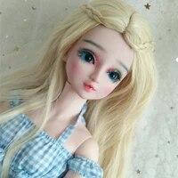 bjd wig long foam rolls goddess of curls