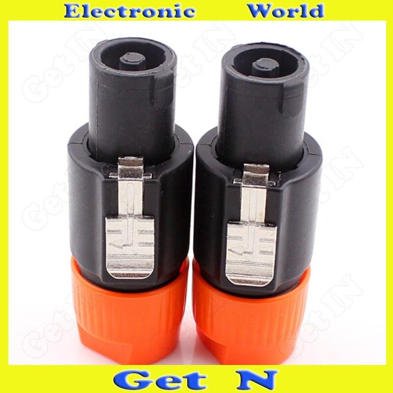 10 pces-100 pces nl4fc 4-pole cannon xlr conector para professional estéreo profissional sistema de áudio cannon plug