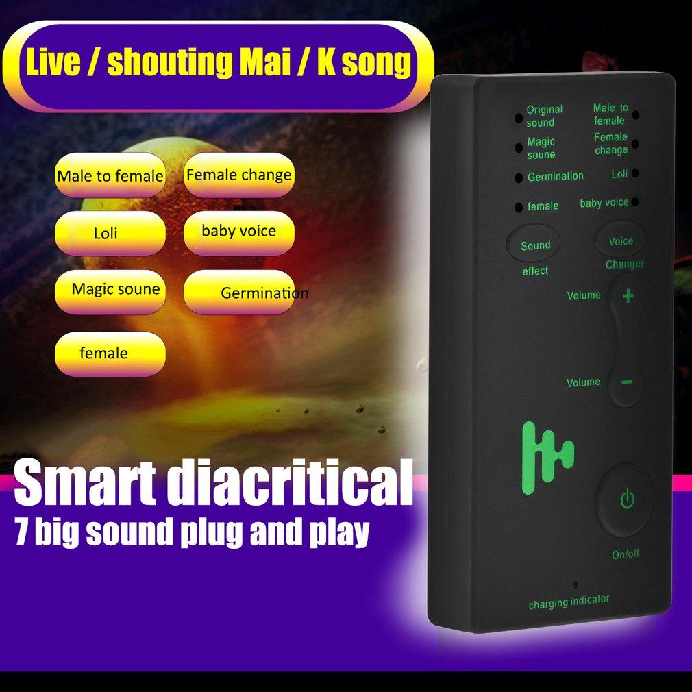 Jogo Microfone Disguiser voz Changer Adaptador Portátil para PUBG 8 Modos para kids/XBOX/PS4/Telefone/ iPad/Computador/Laptop/Comprimidos