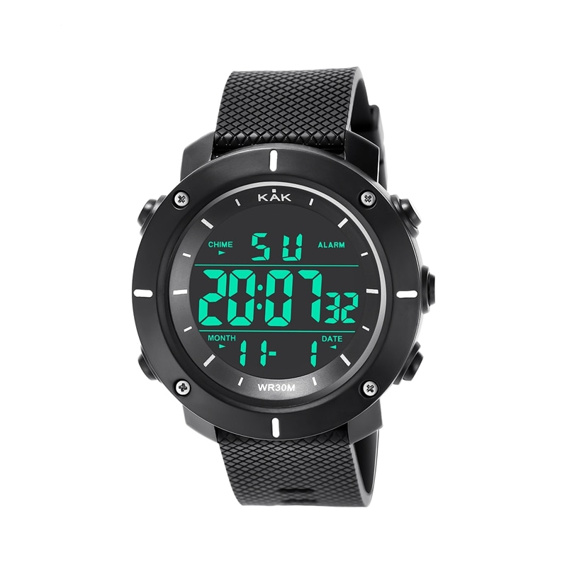 Relojes deportivos Kak impermeables para hombre, reloj Digital militar de marca de lujo a la moda, reloj electrónico Led para hombres