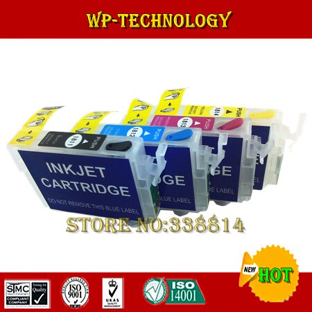 Empty Refill cartridge suit for T1811 T1812 T1813 T1814 suit for Epson XP-305 XP-202 XP-102 XP-405 XP-205 XP-402 ,With ARC Chips
