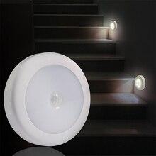 DONWEI IR capteur de mouvement 6 LED veilleuse sans fil détecteur lumières murales Auto On/Off batterie lampe pour couloir chemin escalier