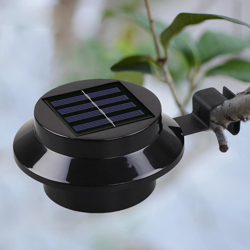 Garten Solar Zaun Lampe 3LED Solar Zaun Waschbecken Traufe Solar Licht Straße LED Garten Licht Im Freien Rasen Wasserdicht Nacht Licht