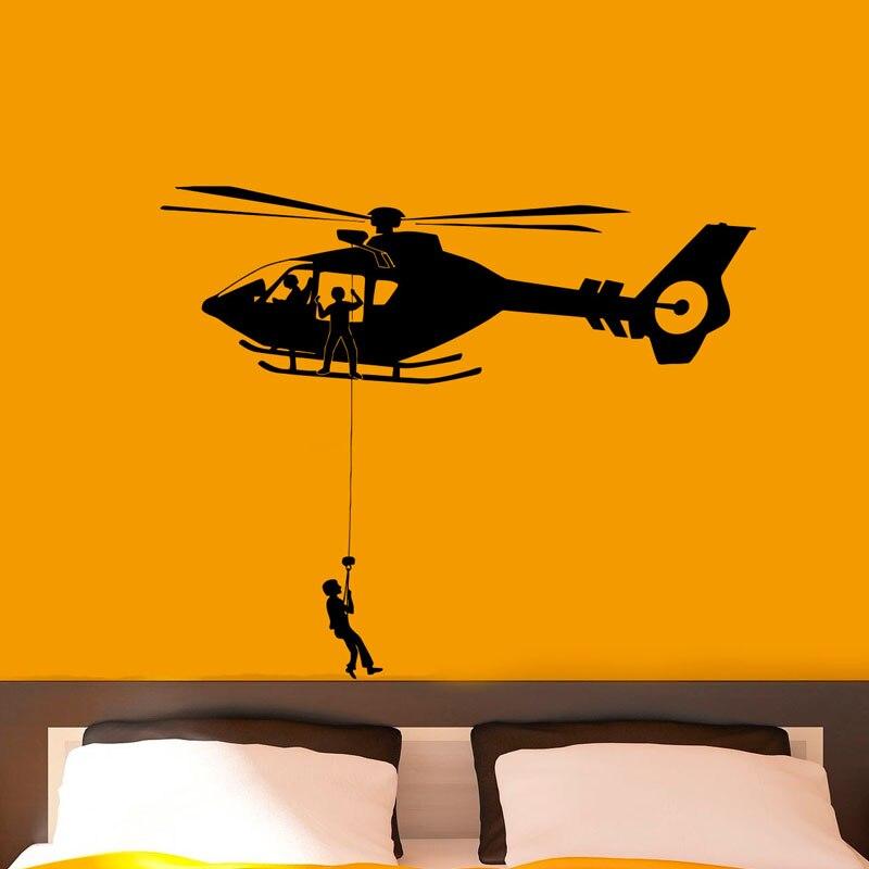 ZOOYOO Airforce Hubschrauber Armee Wandaufkleber Abnehmbare Art Vinyl Wandtattoos Wohnkultur Kinder Kinderzimmer Dekoration