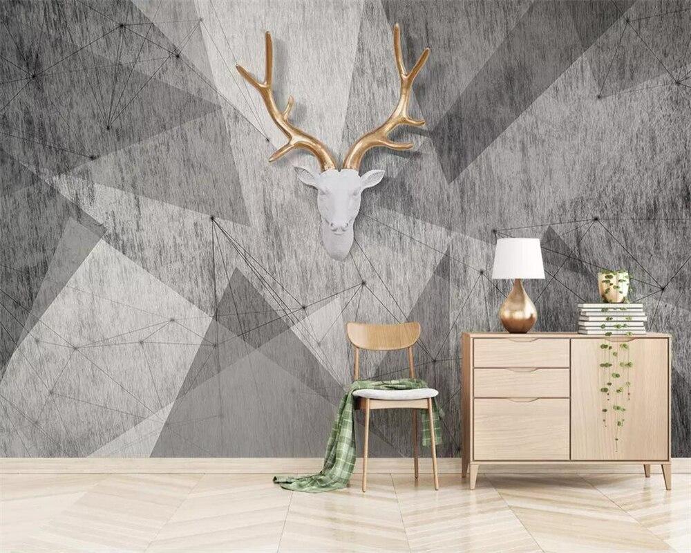 Papel tapiz personalizado beibehang, murales de fotos en 3D, mosaico geométrico vintage moderno abstracto, Fondo de TV, papel de pared, papel de pared 3d