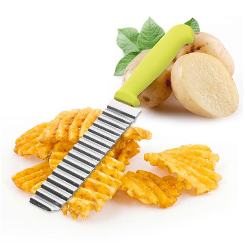 Trituradores de patatas cortadoras cortador de acero inoxidable patata ondas arruga forma verduras Chips WXV venta
