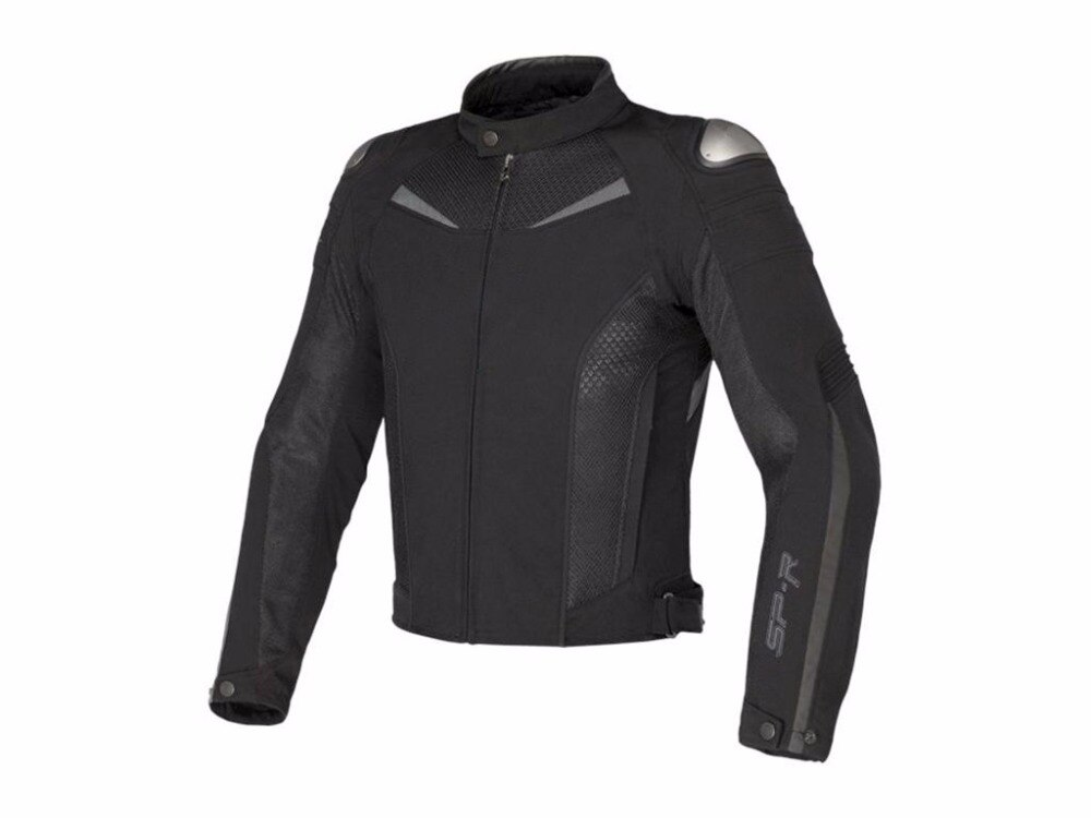 ¡Envío gratis! chaqueta textil de supervelocidad de titanio Dain 2017 motociclismo Moto GP chaqueta de carreras negro/blanco