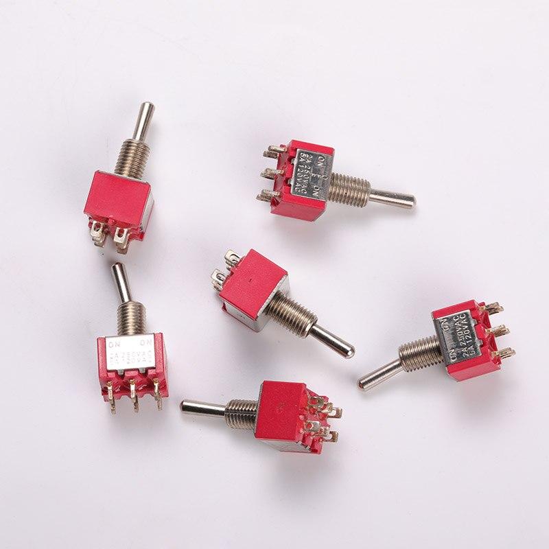 2 pçs/lote balançando cabeça interruptor de balancim eletrônico miniatura atual 2-5a chama segurança retardador habitação 3p2t/6p2t/6p3t