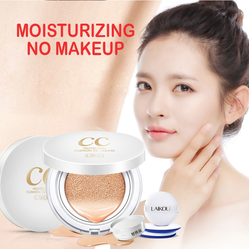CC Cream Air Cushion Isolation Korean Cosmetic Moisturizer Make Up Oil Control Hyaluronic Acid Whitening BB Makeup LAIKOU