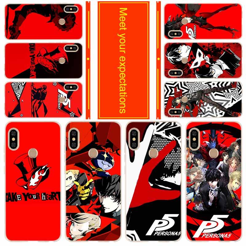 Funda de teléfono para Xiaomi Redmi 8a 7a 6a 5a 5plus 4x Nota 8 7 6 5 9 5a pro 8t cubierta p5 P Persona 5