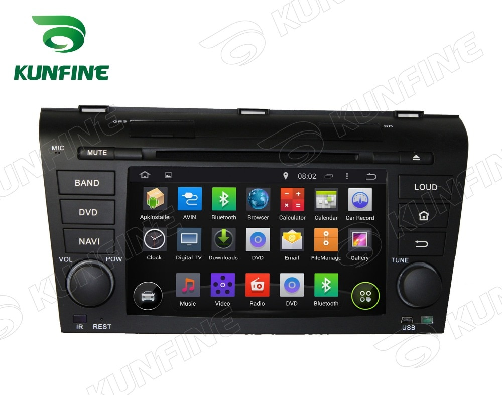 Octa Core 2GB RAM Android 6,0 navegación GPS con DVD para coche reproductor Multimedia estéreo para Mazda 3 2004-2009 Radio Unidad Principal