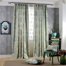 European Damask Flocked Jacquard Curtains for Living Room Luxury Drapes Window Decoration Classical Shiny Velvet Bedroom Panel
