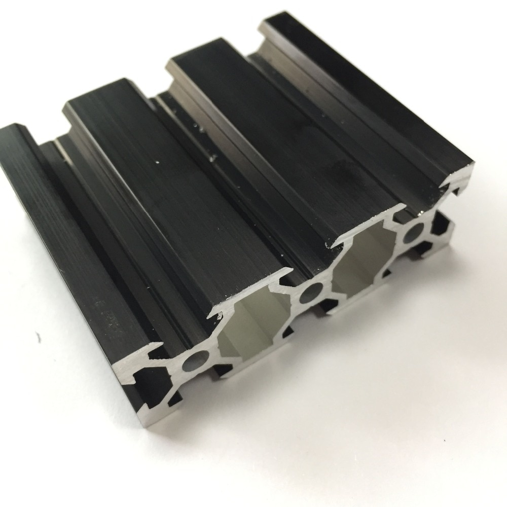 Máquina de impresión 3D CNC Industrial serie 2060 ranura en V color negro banco de trabajo carril lineal perfil de aluminio extrusión