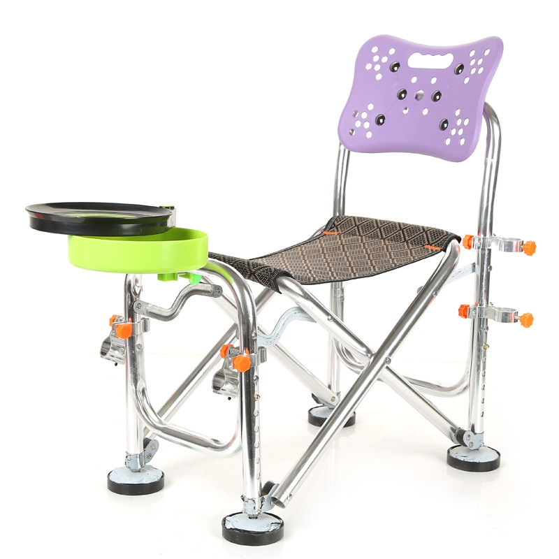 Kamp Sandalyesi-Silla Plegable multifuncional de aleación de aluminio, Silla Plegable para acampar,...