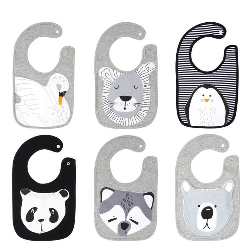 Plus size baby bibs animal Patch Burp Cloths fox baby baberos panda bandana bib 6-36M bavaglini spuugdoekjes bavoir slabbetjes