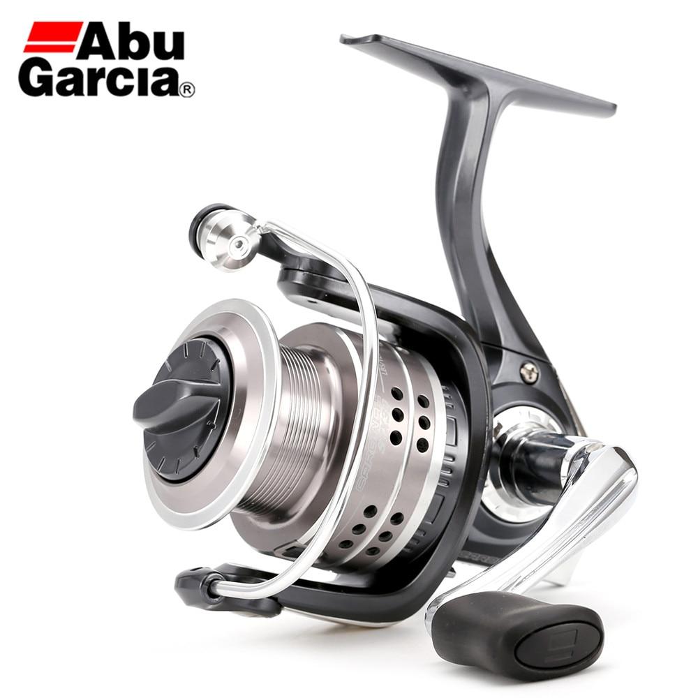 Carrete de pesca giratorio completamente de Metal 7BB card stx 1000-4000 de la marca Abu Garce ratio de engranaje 5,2: 1 carrete Anti-retroceso