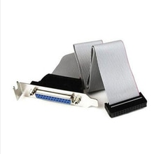 Flambant neuf 25 broches femelle à carte mère DB25 broches support avec câble 1 Port série parallèle PCI Slot en-tête câble support