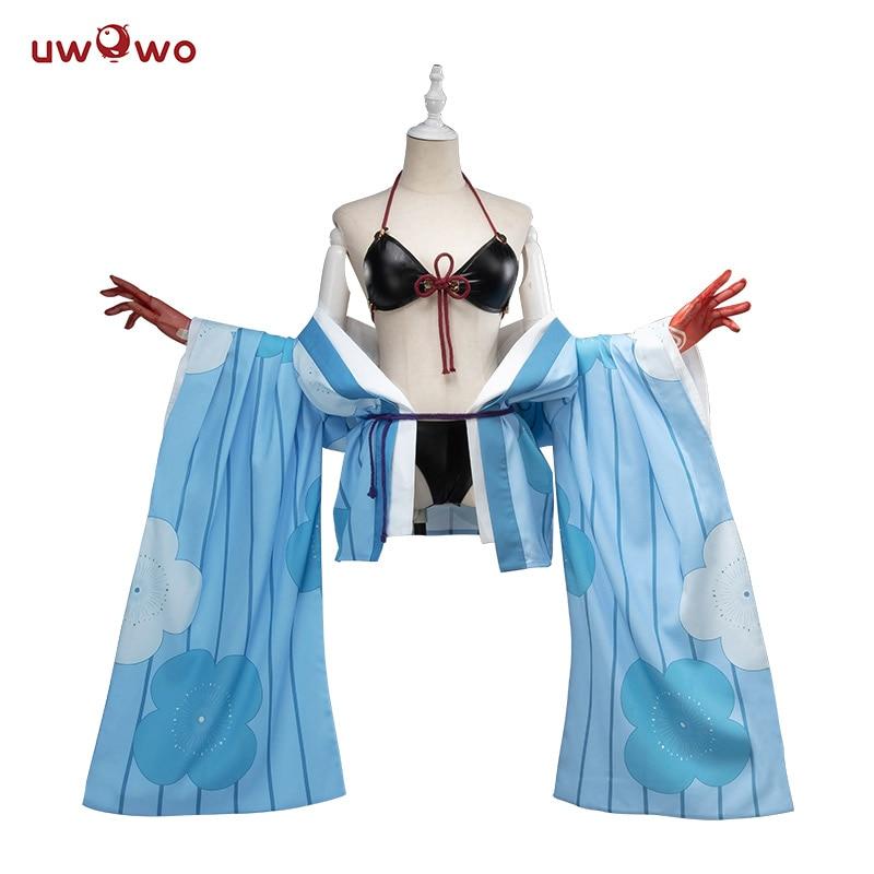Fate Grand Order Ibaraki Doji Swimsuit  2019 New Costume Uwowo FGO Swimwear Bathing Suit Bikini Outfit Anime Cosplay Costumes