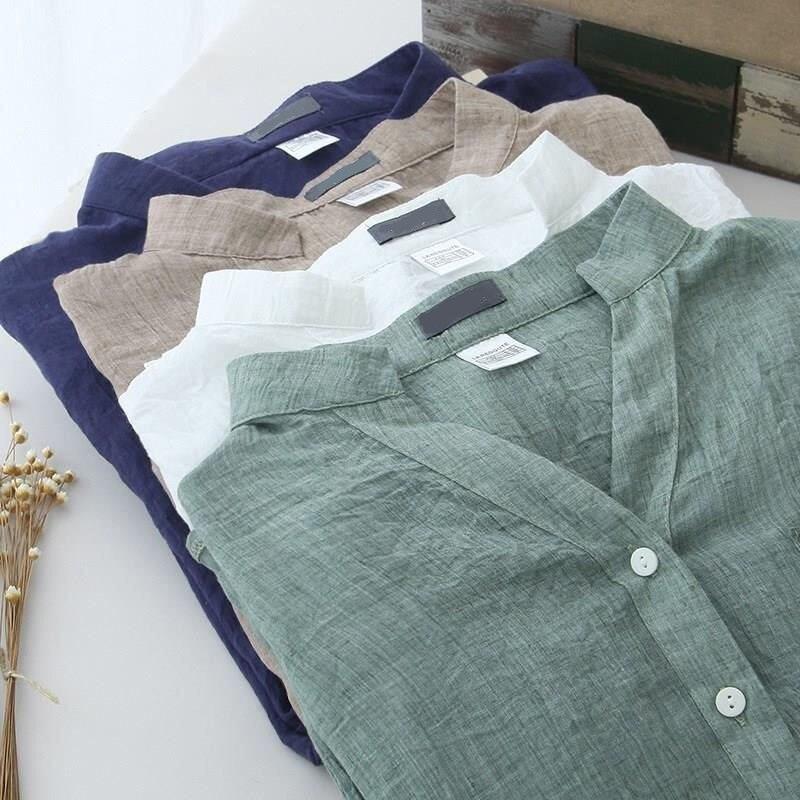 Chemisier dété chemise femmes vêtements coton lin décontracté Blouse Femme Streetwear grande taille 4XL dame blanc chemise Blouse Q1377