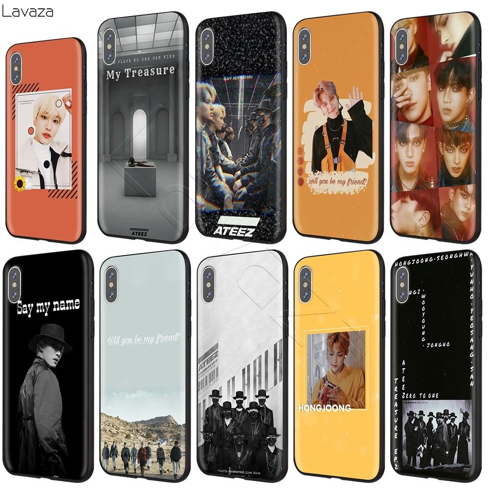 Lavaza ATEEZ HongJoong SeongHWA Case for iPhone 11 Pro XS Max XR X 8 7 6 6S Plus 5 5s se
