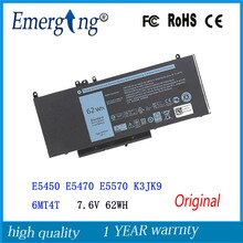 7,6 V 62WH nueva batería Original del ordenador portátil para Dell Latitude E5450 E5470 E5570 K3JK9 6MT4T