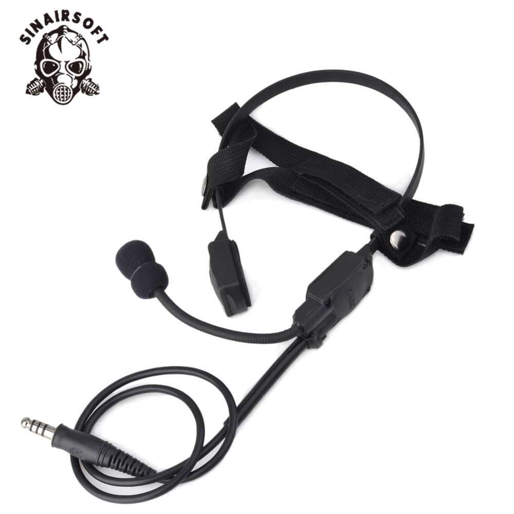 SINAIRSOFT Z 136 Military Headset Atlantic Signal MH180-V Tactical Sniper Earphone System Hunting Headsets enlarge