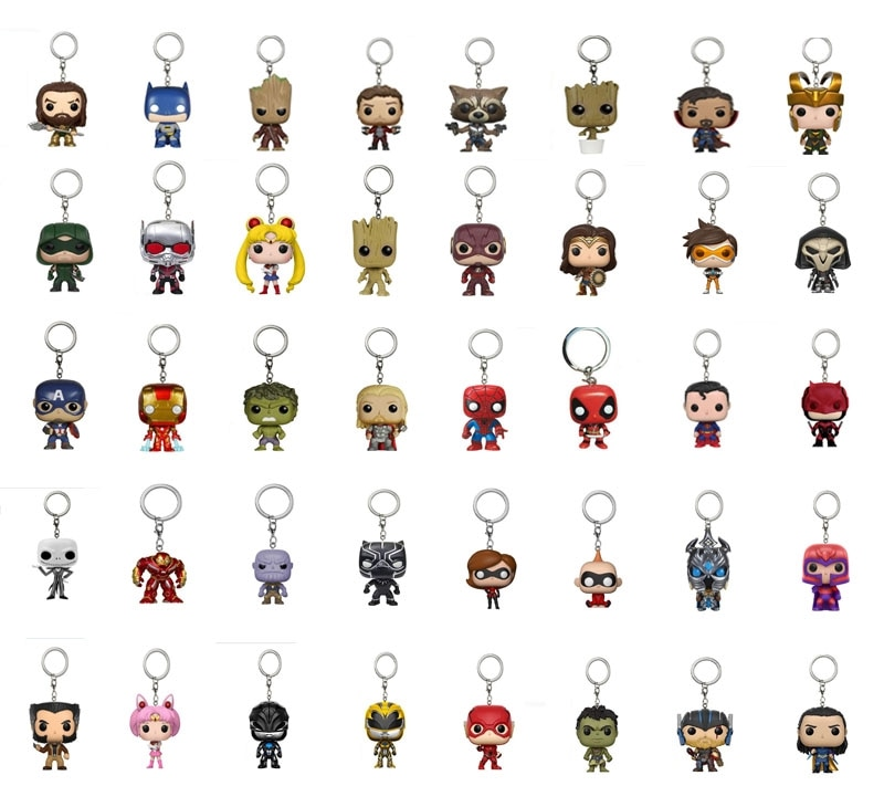 Экшн-фигурки героев Marvel, «мстители», «Infinity War», «Hulk», «Железный человек», «Человек-паук», «танос», «Captain America Ant Thor Loki», брелок