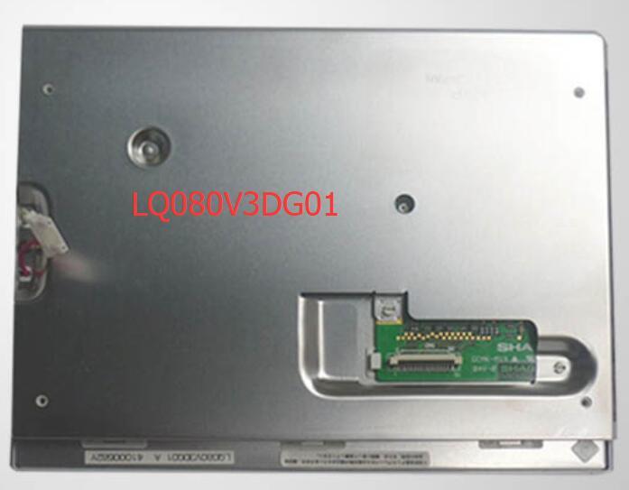8 pulgadas LQ080V3DG01 industrial pantalla LCD
