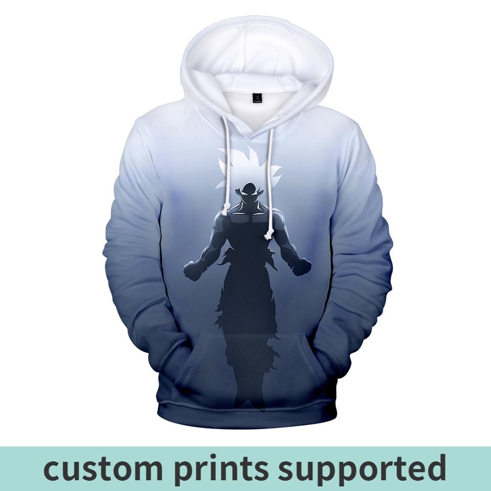 2019 3D dragon ball fashion Hoodies Men women Hip Hop Funny Autumn Streetwear Hoodies Sweatshirt For hot Couples Clothes custom