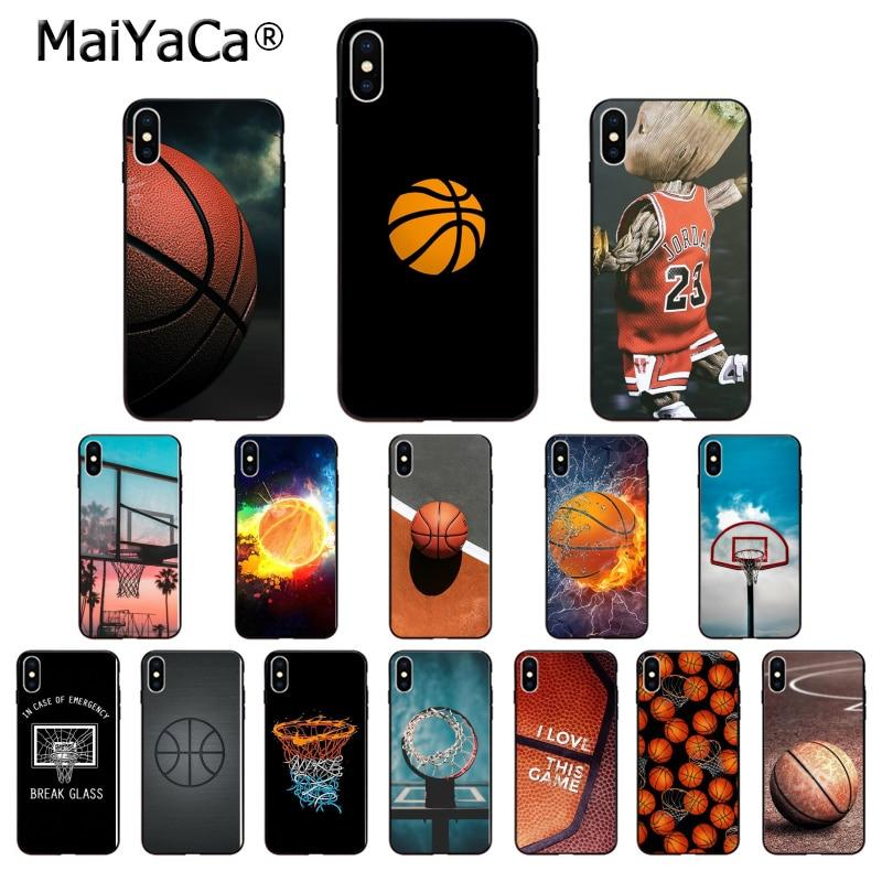 MaiYaCa canasta de baloncesto de alta calidad funda de teléfono para iPhone 6S 6plus 7 7plus 8 8Plus X Xs MAX 5 5S XR