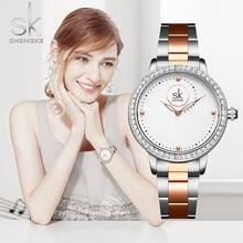 Montre-bracelet cadran diamant femme   Montre-bracelet de marque, Relogios Feminino, Reloj Mujer Acero inoxydable