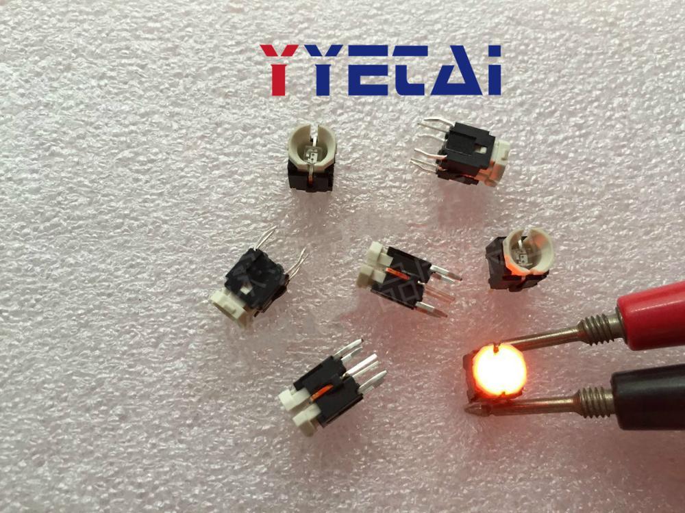 Interruptor de tacto YongYeTai 6*6*8,5 con interruptor iluminado luz led envío gratis