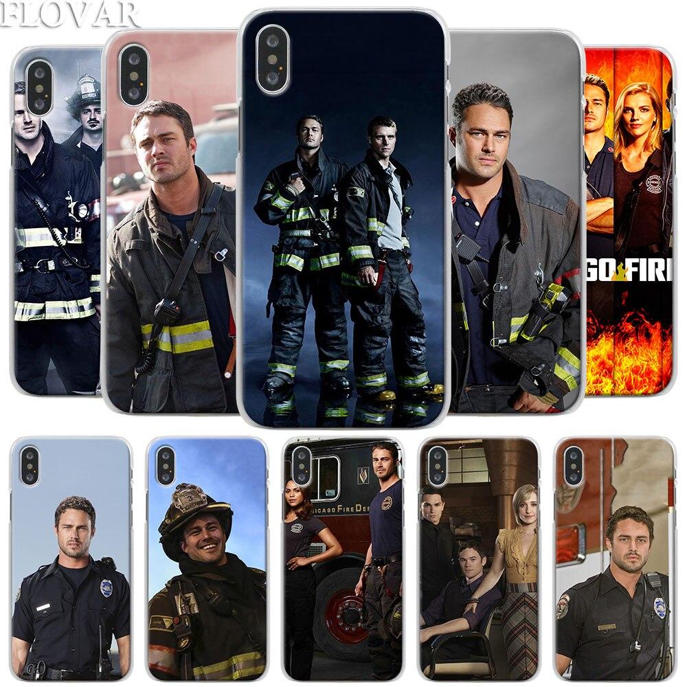 Chicago fogo série tv caso de telefone para apple iphone x xr 7 8 plus 6s mais xs max 11 pro max se caso de telefone coque