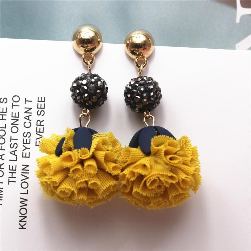 2018 Nueva joyería de marca de moda pendientes de flores pendientes de estilo de verano para regalo de mujer