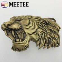 1Pc Meetee tête de tigre en laiton massif métal boucle de ceinture hommes femmes ceinture tête pour ceinture 37-38mm artisanat cuir bricolage accessoires de jean