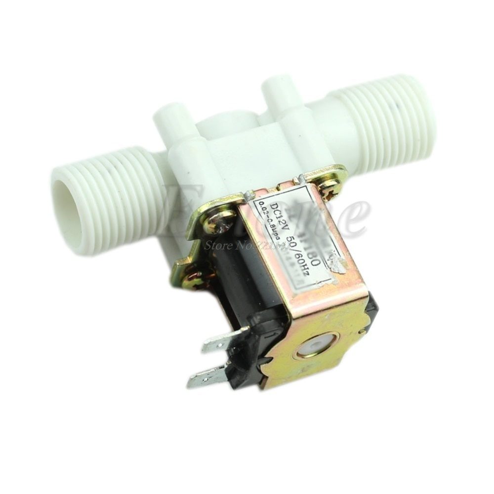New 12V Electric Solenoid Valve Magnetic DC N/C Water Air Inlet Flow Switch 1/2'' Dropship