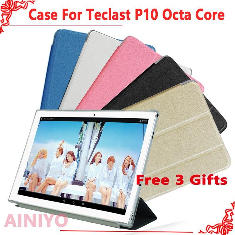 "Ultra fina case Para Teclast P10 Octa Core 10.1 ""Stand Case Couro Pu para Teclast P10 Octa Núcleo Protetor de Tela capa + presentes"