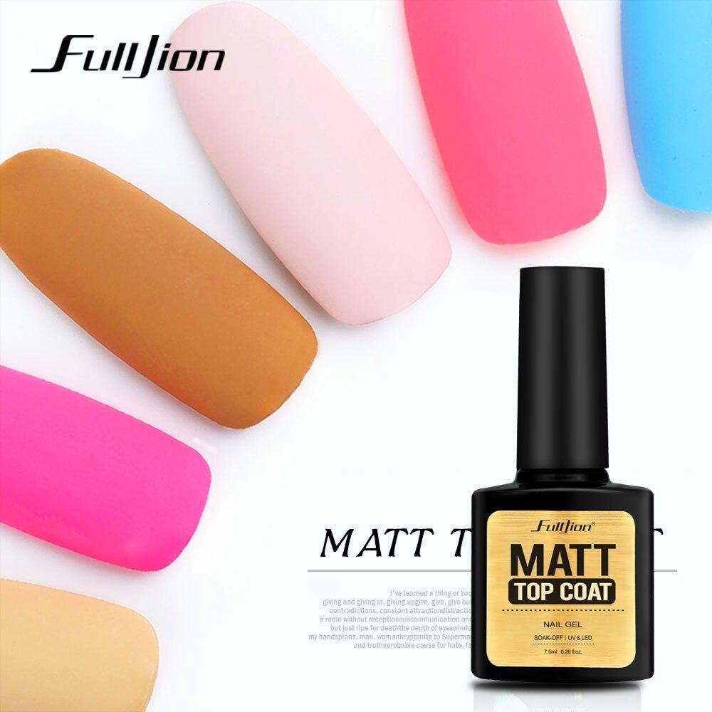 Fulljion 7,5 mate ml capa superior transparente capa superior Gel laca larga duración esmalte de uñas Gel Soak Off Primer Gel Nail Art barniz