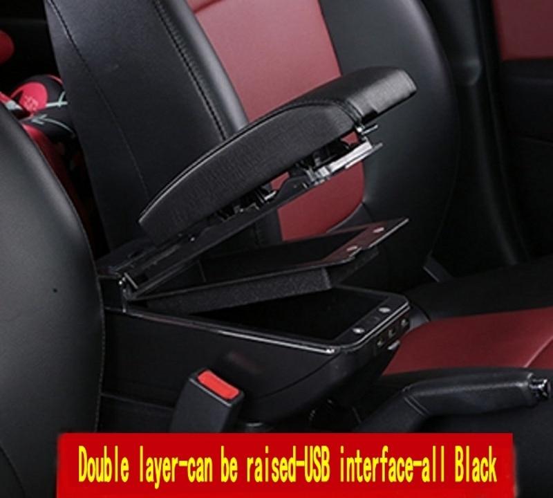 Para Seat Ibiza 6L caja de reposabrazos Almacenamiento de contenido de tienda central caja con portavasos Cenicero productos