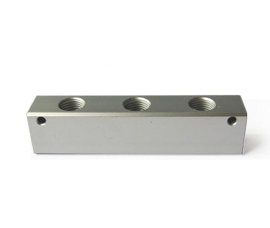 """Divisor do bloco do distribuidor g1/4 """"bsp 3 way 5 porto de alumínio contínuo pneumático ar manifold bloco divisor"""