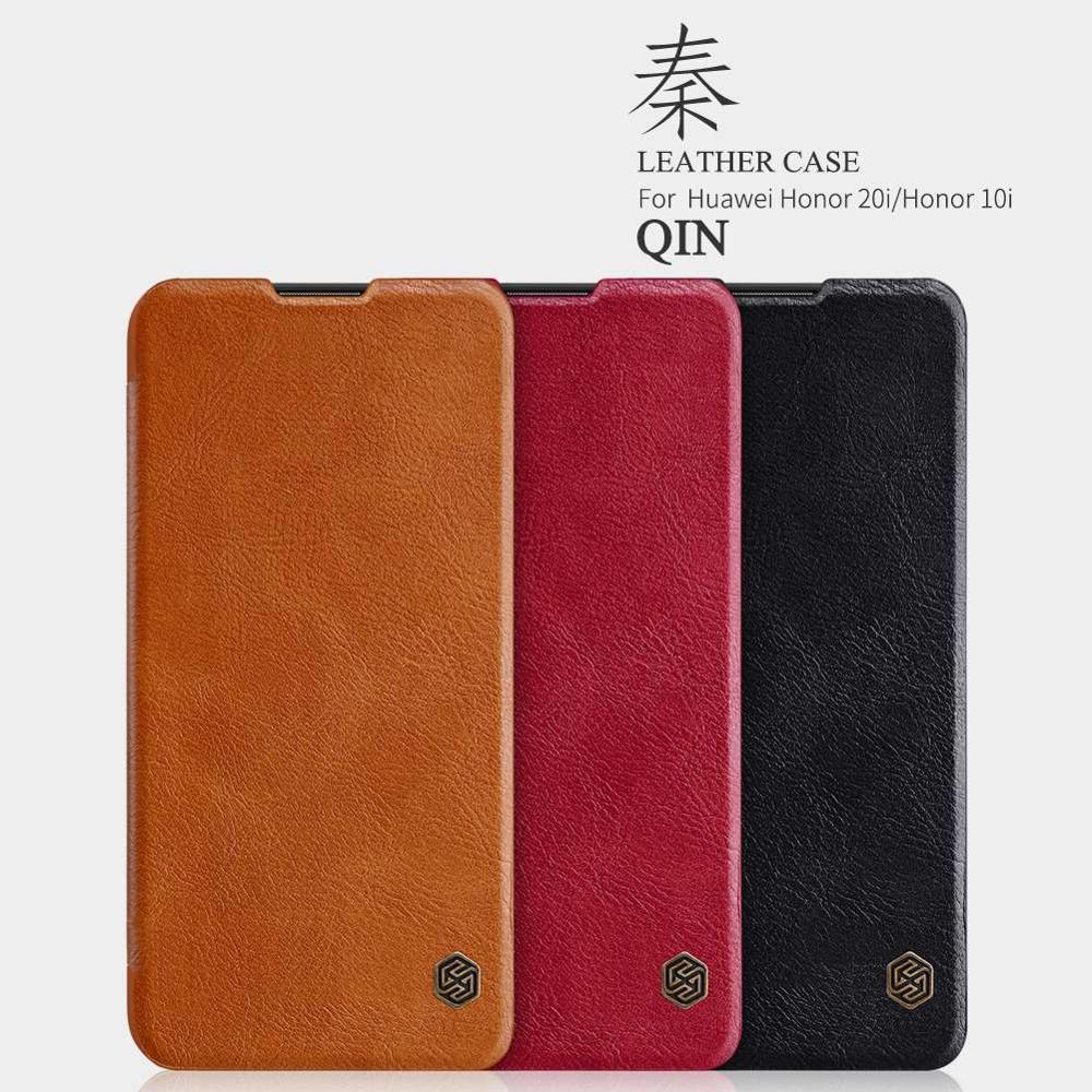 """Para Huawei Honor 10i flip case capa 6,21 """"caso PU de couro para Honra 10i carteira de luxo do vintage livro dobrável em"""