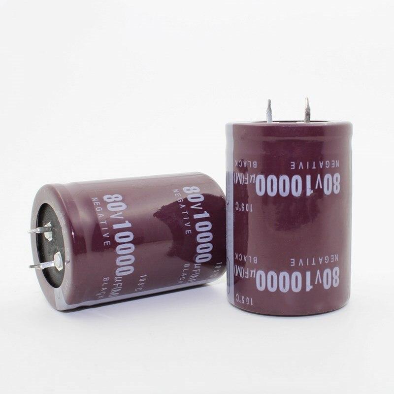 2 uds-12 Uds 80V10000uf condensador electrolítico Radial 10000UF 80V 35x50mm