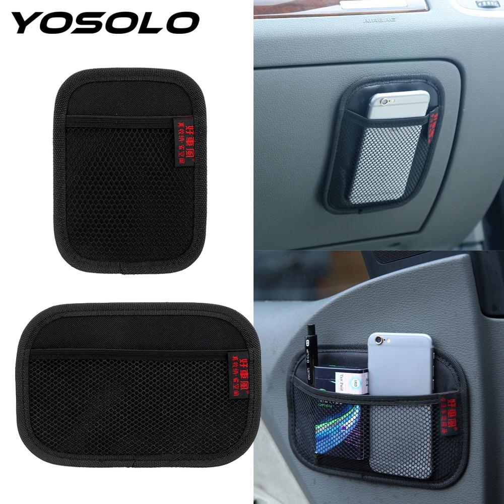 YOSOLO Car Storage Net Bag Stowing Tidying Car Seat Back Organizer Oxford Fabric Multi-use Automotive Pocket Car Accessories