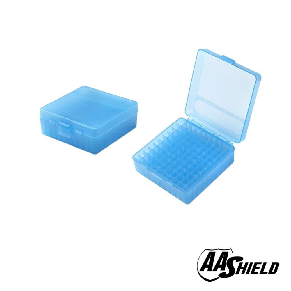 Caja de munición de plástico AA Shield 100 caja de munición redonda de 9mm caja de munición para pistola
