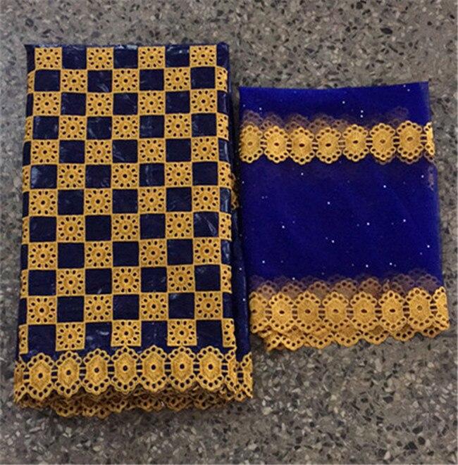 Индийская жаккардовая парчовая ткань riche getzner с камнями, новейшая нигерийская желе головная повязка 5 + 2 ярдов/партия, 2019